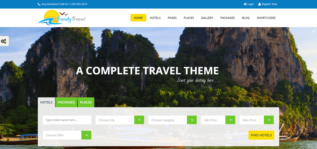 5. Trendy Travel - Tour, Travel & Travel Agency Theme