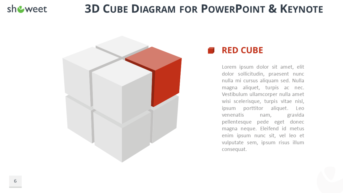 3D Cube Diagram Free Presentation Template