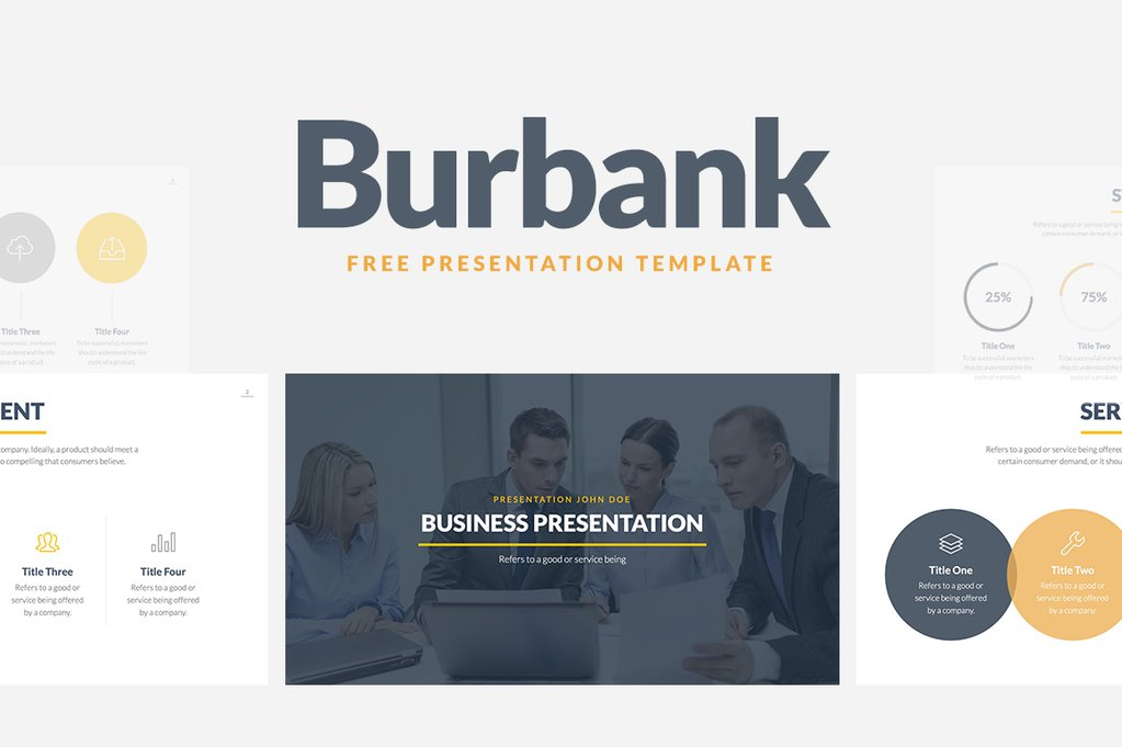 burbank business proposal free presentation template