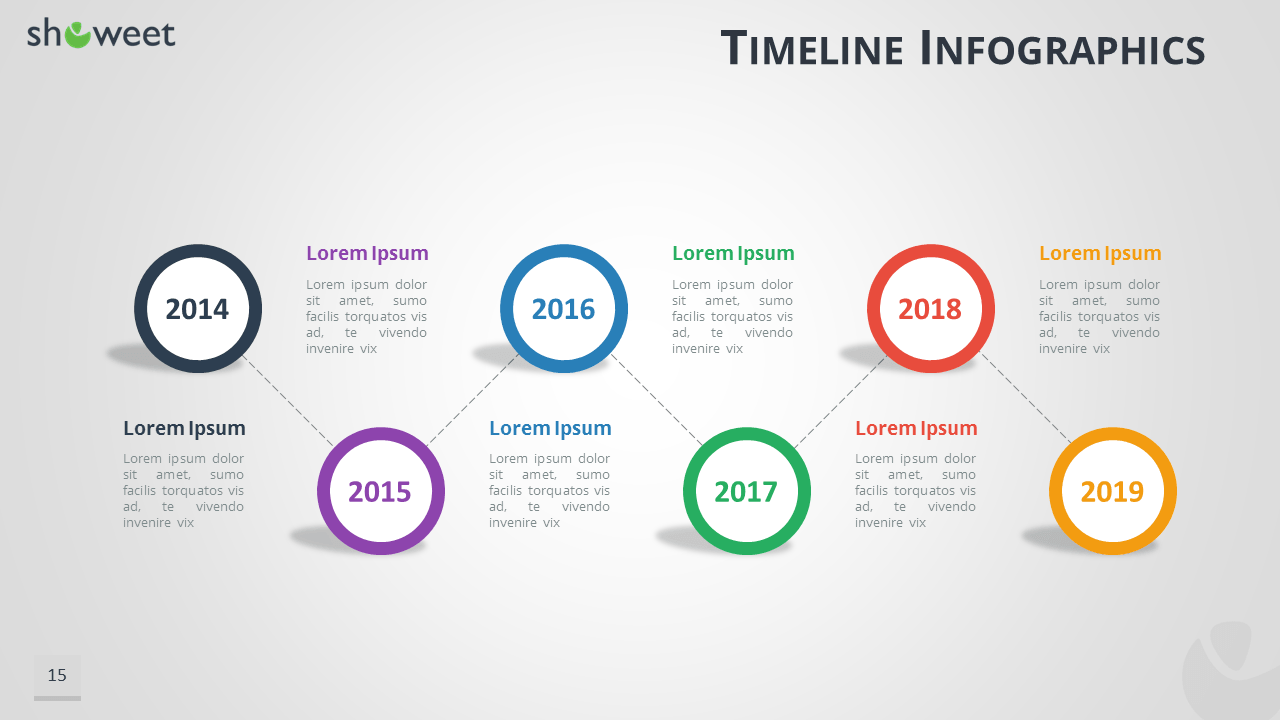 timeline infographics free presentation