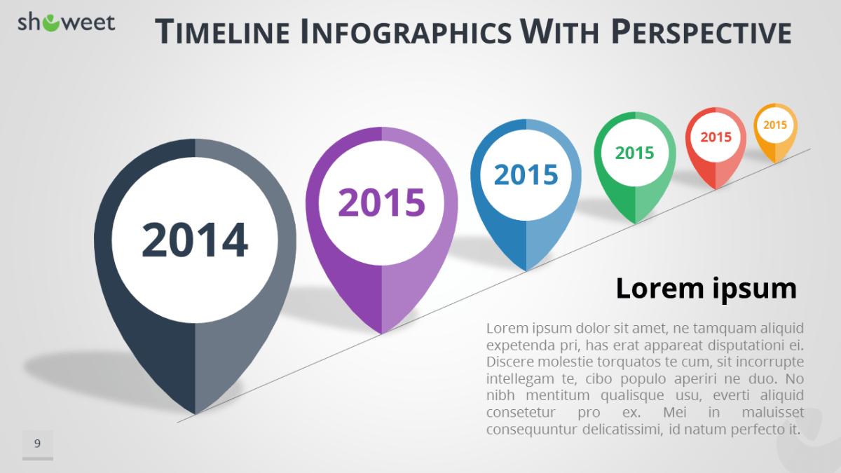 timeline infographics free presentation template