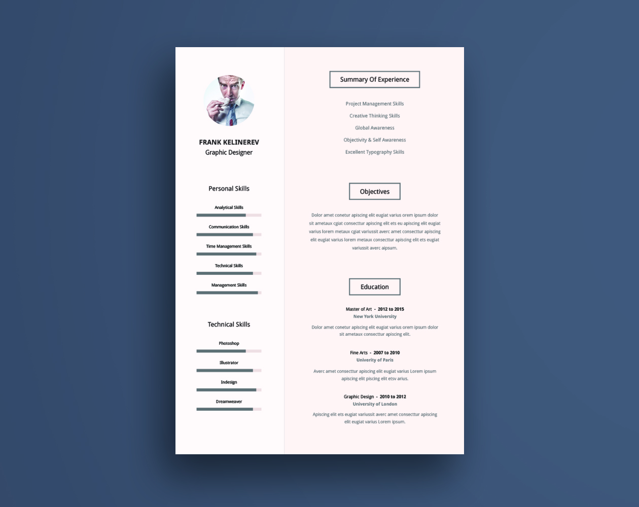 Resume Download Template Free Professional Resume Cv Template