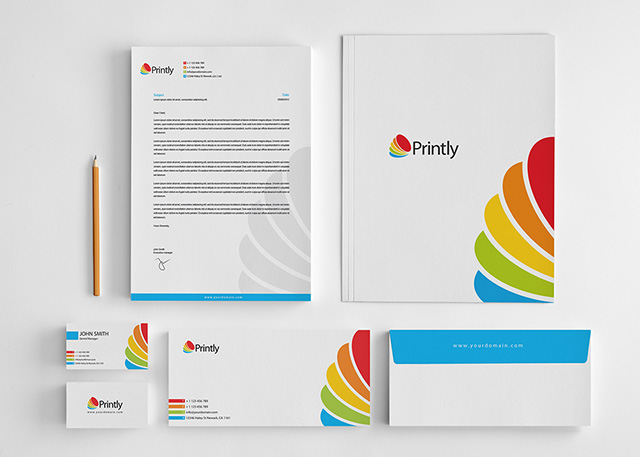 Printly Corporate Stationery Design Set Graphic Pick