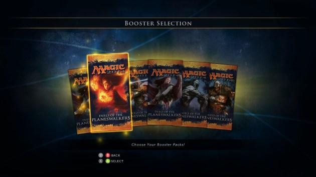 Magic 2014 - XBLA - Booster Selection