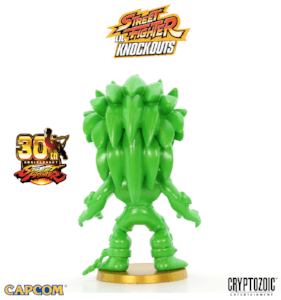 Metallic Green Blanka Street Fighter Lil Knockouts Vinyl Figure 3