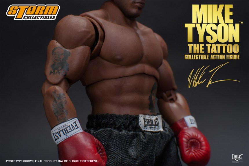 """00b8a1958 The Storm Collectibles' Mike Tyson """"The Tattoo"""" figure will be available  for purchase in April, 2019 from authorized Bluefin retailers nationwide."""