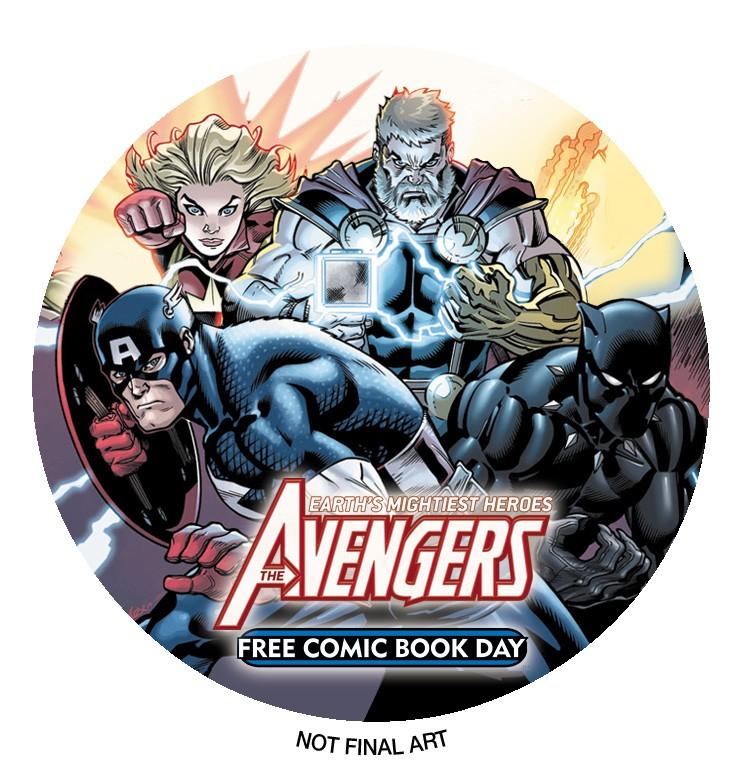 FCBD Avengers #1 pin