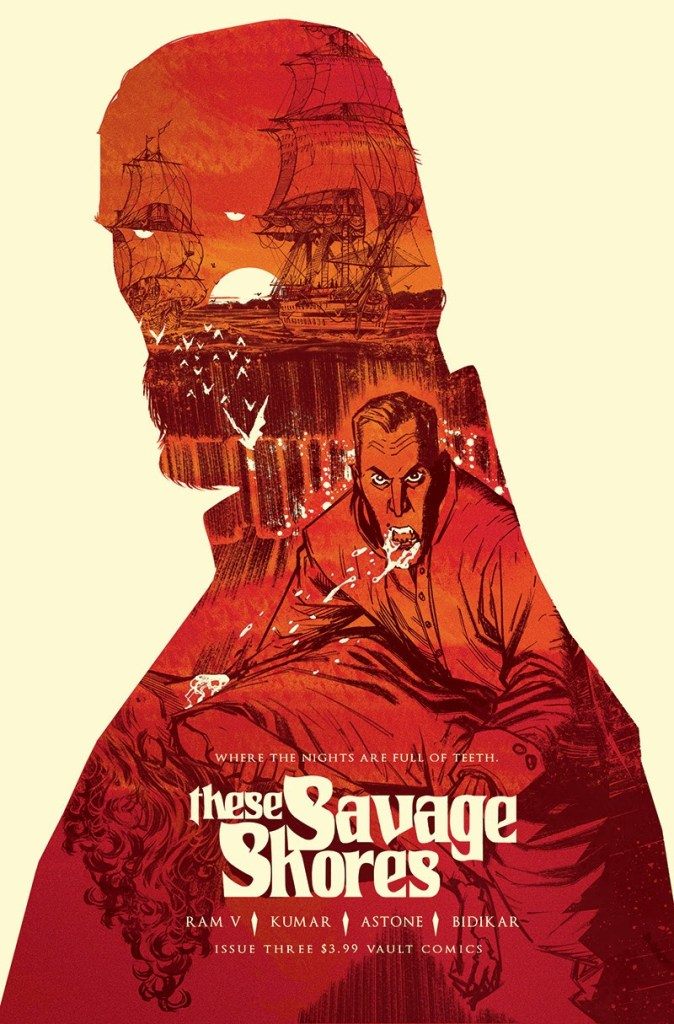 These Savage Shores Issue #3, Cover art featuring Count Grano