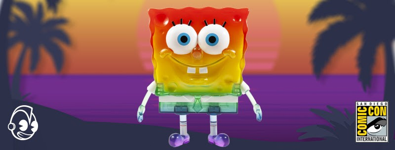 "Kidrobot SpongeBob 20th Anniversary 8"" Art Figure - Rainbow"