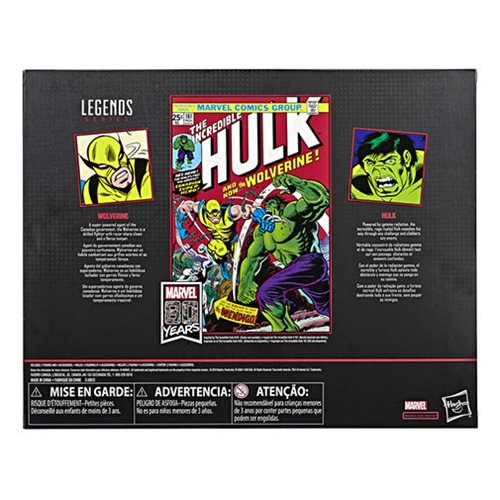 Marvel Legends 80th Anniversary Wolverine and Hulk 6-Inch Action Figures
