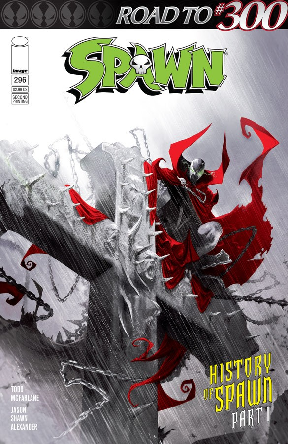 Spawn #296 second printing