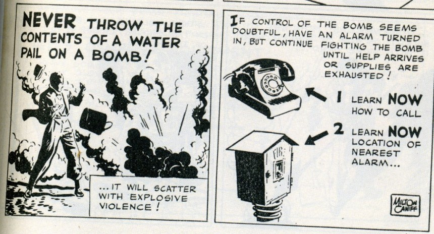 gov comics bomb control Milton Caniff
