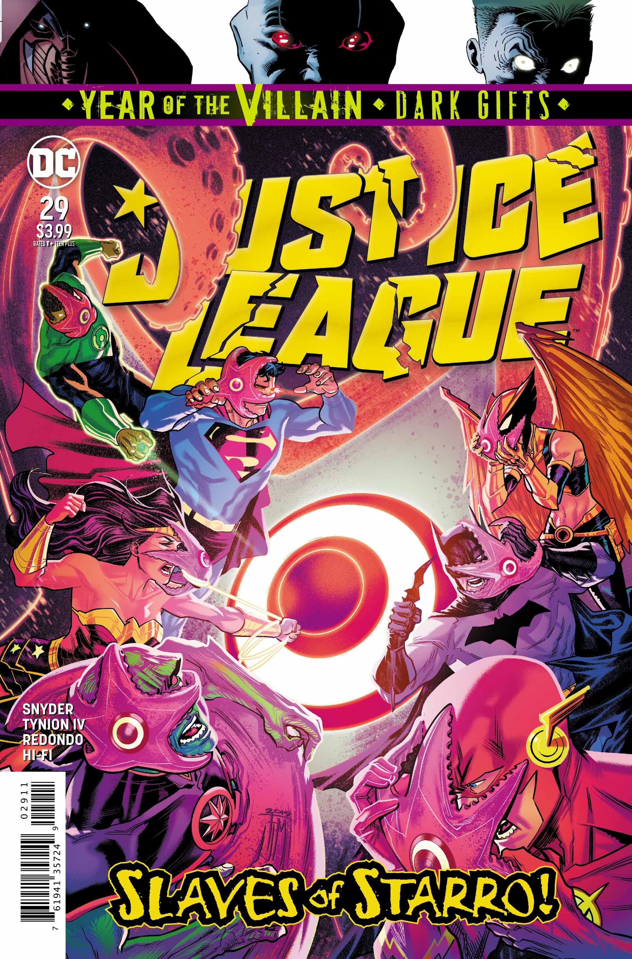 1ST PRINTING RACHEL+TERRY DODSON VARIANT COVER YOTV DC 2019 JUSTICE LEAGUE #29