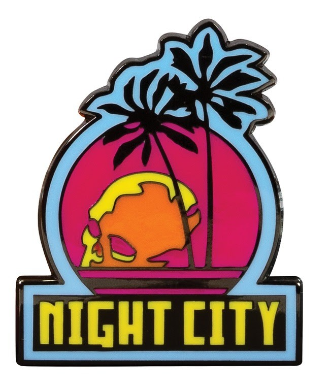 Cyberpunk 2077: Night City Enamel Pin