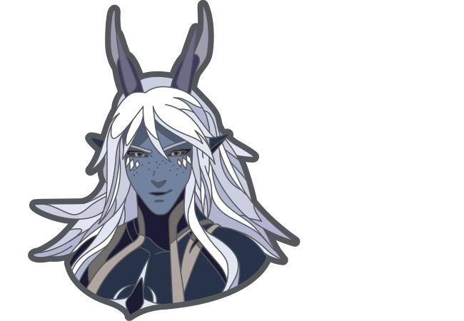 The Dragon Prince: Aaravos Enamel Pin