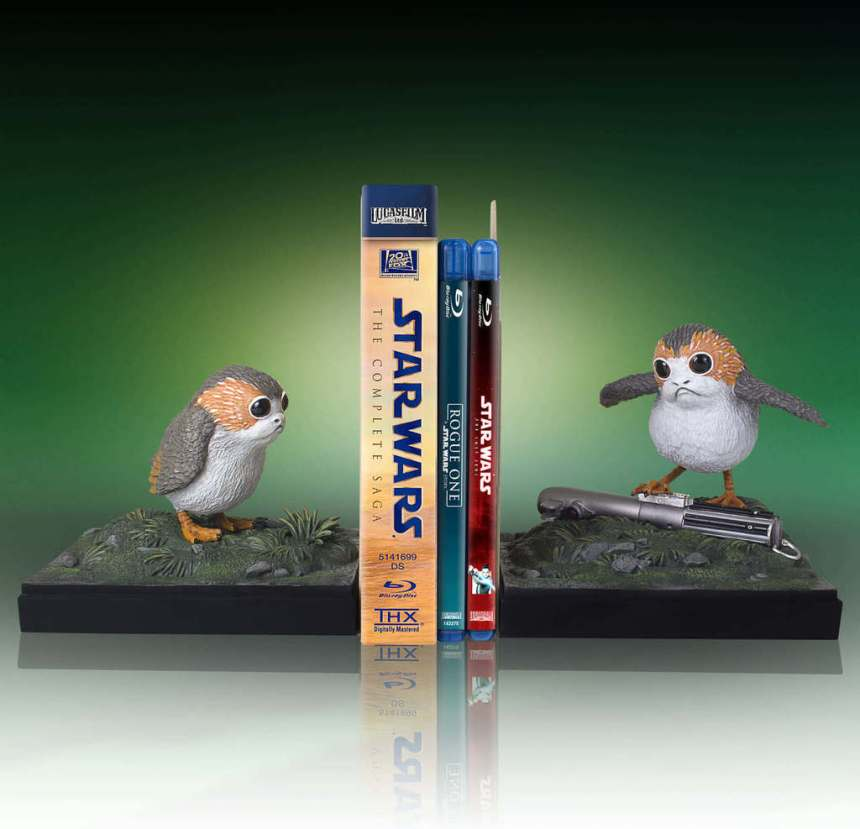 Star Wars Porg Bookends