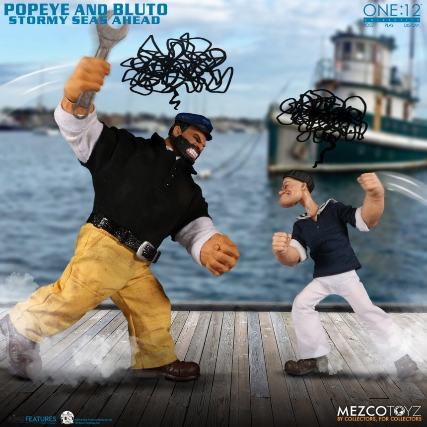 One:12 Collective Popeye & Bluto: Stormy Seas Ahead Deluxe Box