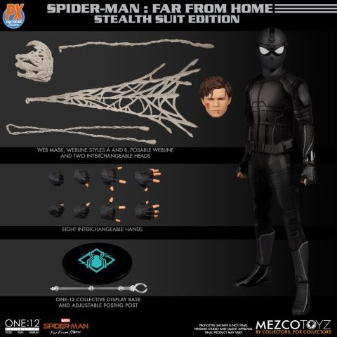 PREVIEWS Exclusive One:12 Collective Spider-Man: Far From Home Stealth Suit Action Figure