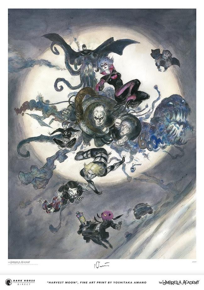 "The Umbrella Academy Fine Art Print by Yoshitaka Amano, ""Harvest Moon"""
