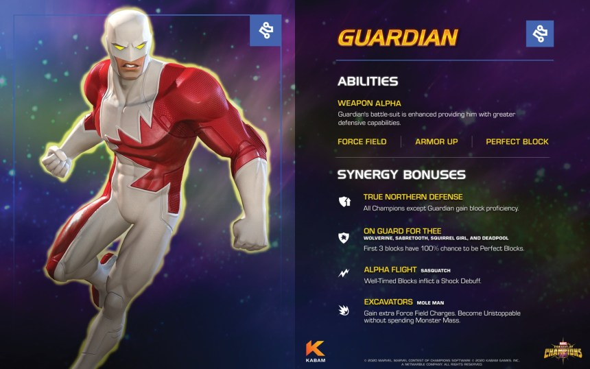 Marvel Contest of Champions Guardian