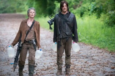 The Walking Dead Norman Reedus as Daryl Dixon and Melissa McBride as Carol Peletier