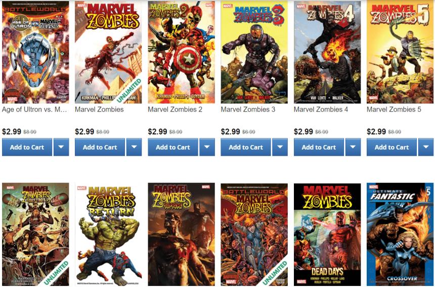 Marvel Zombies Sale