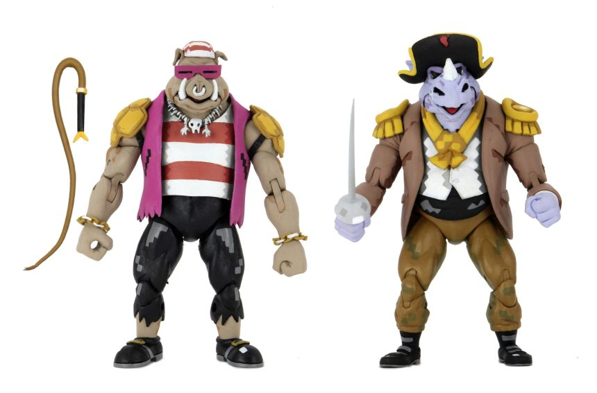 "Teenage Mutant Ninja Turtles: Turtles In Time - 7"" Scale Action Figure - Pirate Rocksteady & Bebop 2-Pack"