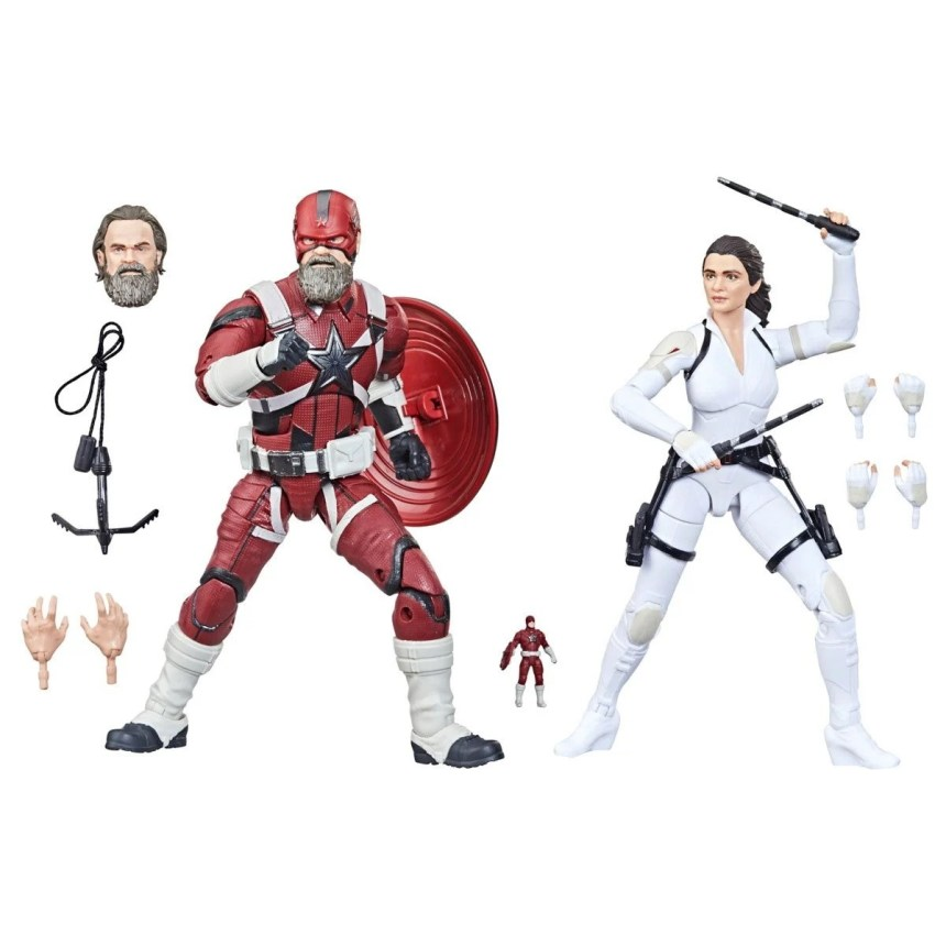 Black Widow Marvel Legends 6-Inch Red Guardian and Melina Vostkoff Action Figures