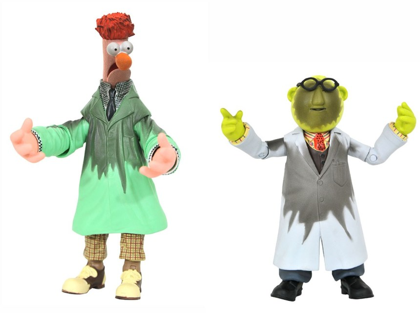 San Diego 2021 Muppets Bunsen & Beaker Lab Accident Deluxe Action Figure Set