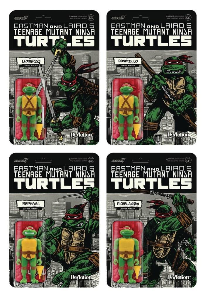 Teenage Mutant Ninja Turtles Mirage Variant Figure 4 Piece Set