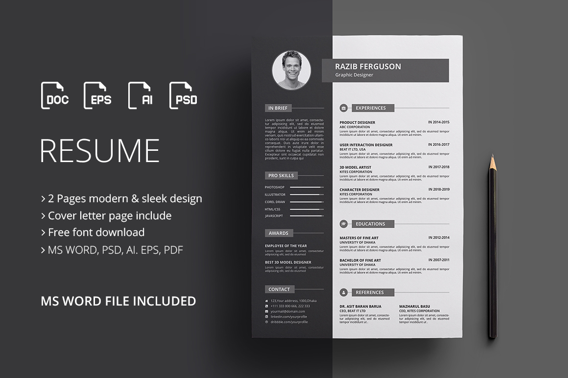 Modern Resume Template Download Modern Resume Template Design