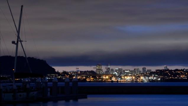 San Francisco at night from Oyster Point Marina, South San Francisco, CA