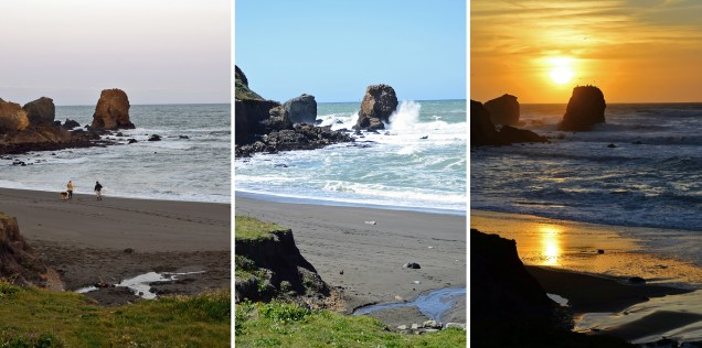 Sunrise/Noon/Sunset Tryptych, Pacifica, CA