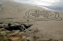 What were the odds that your sand art would last very long? Dude... check the tide chart first!