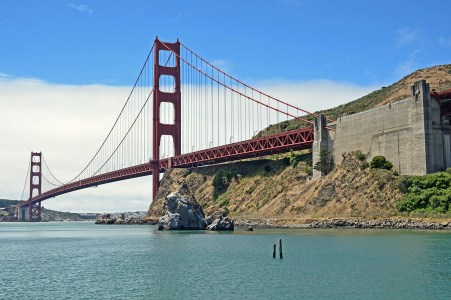 The GGB from the fishing pier at Ft. Baker on the north side of the bay.