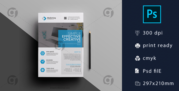 Clean Corporate Flyer Template Download