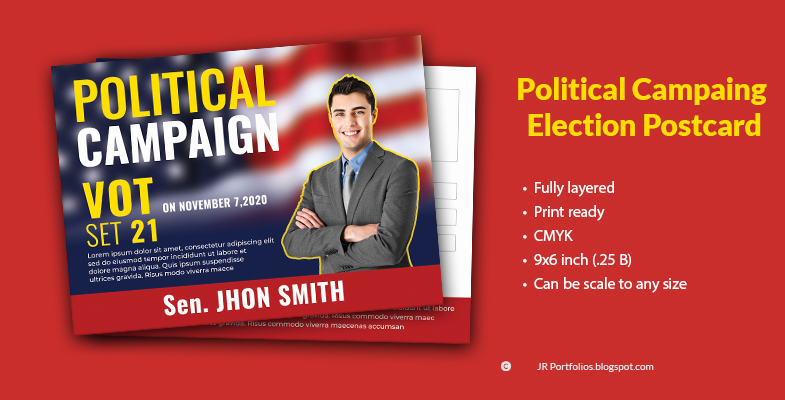 Political Campaing Postcard Cover