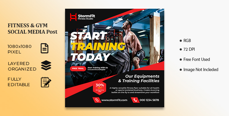 FITNESS GYM SOCIAL MEDIA Post Cover Image
