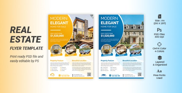 CREATIVE REAL ESTATE BUSINESS FLYER TEMPLATE