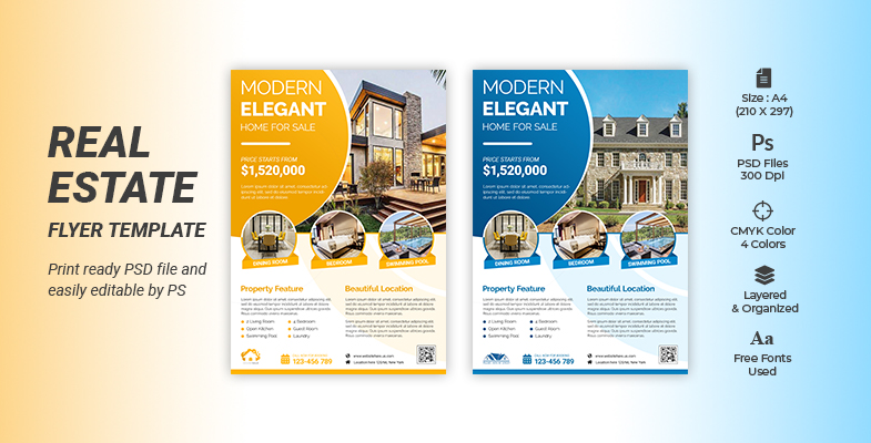 CREATIVE MODERN REAL ESTATE BUSINESS AGENT FLYER TEMPLATE Cover Image