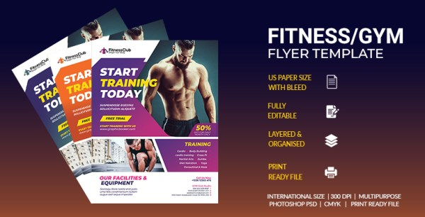 Fitness -GYM Flyer Template