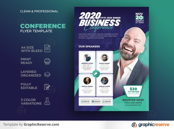 Creative & Modern Business Conference Flyer Template