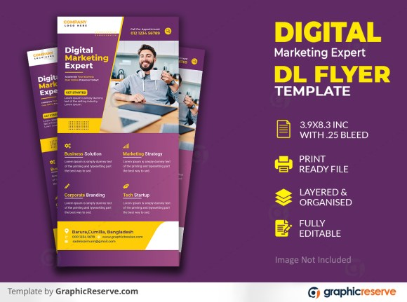 Digital Marketing Business Expert Dl Flyer template