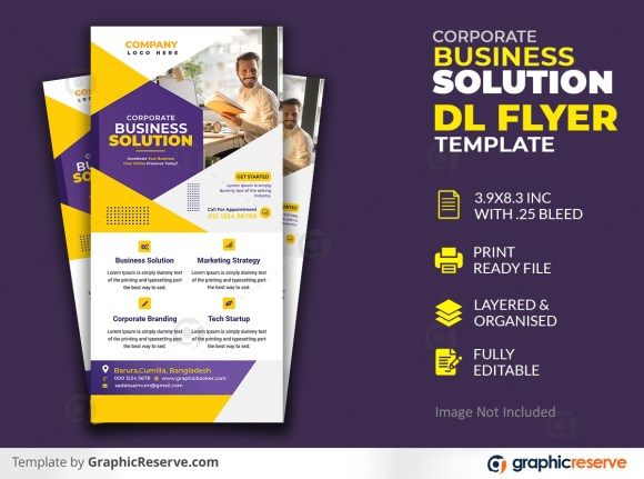 Creative corporate & business Solution Dl flyer template