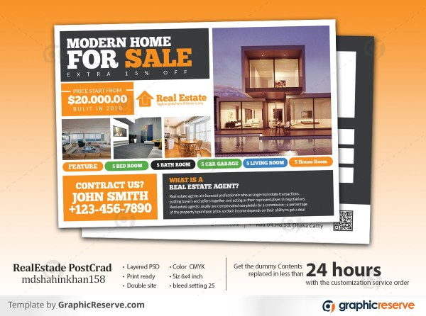 Real Estate Postcard Foreclosure Property Sold Postcard