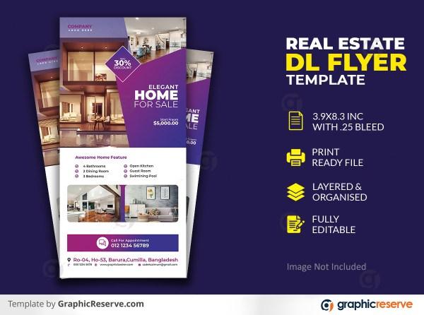 Modern Elegant Real Estate Dl Flyer Template Premium PSD