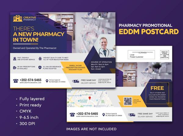 New Pharmacy Announcement Eddm Postcard Design Template