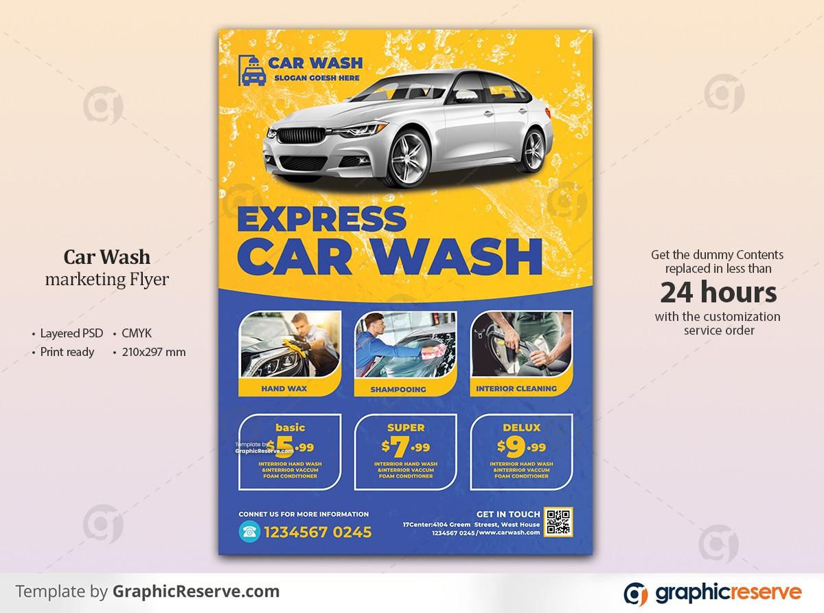 yellow blue car wash