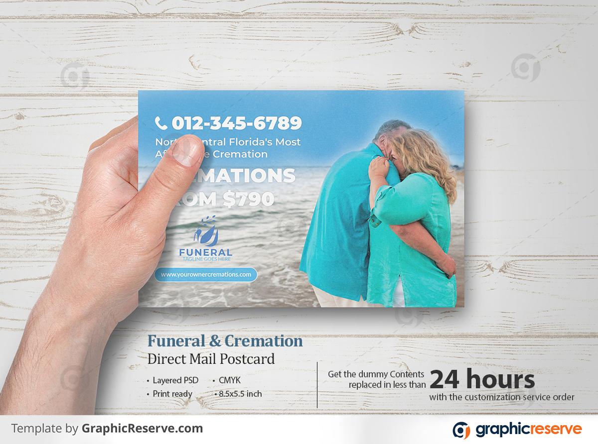 Funeral cremation direct mail eddm postcard flyers 01