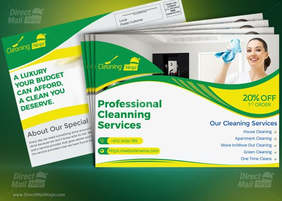 Cleaning Services Direct Mail EDDM Postcard template by MTS